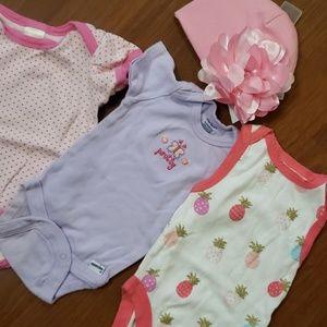 BUNDLE 0-3 month girls onesies